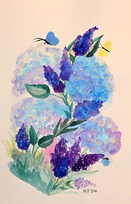 Painting - Butterfly Blues - Watercolor by Maria Urso