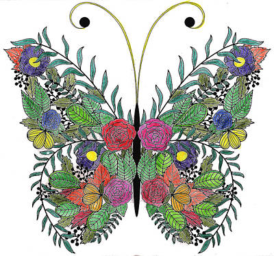 Digital Art - Butterfly by Brian Moore