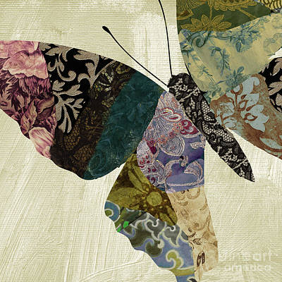 Tapestries Textiles Painting - Butterfly Brocade I by Mindy Sommers