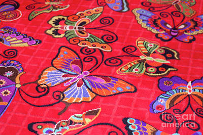 Butterfly Carpet Original by Linda Phelps