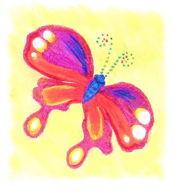 Butterfly Art Print by Chandelle Hazen