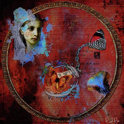 Digital Art - Butterfly Circle Of Love by Richard Ricci