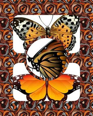 Digital Art - Butterfly Collage 15-01 by Maria Urso