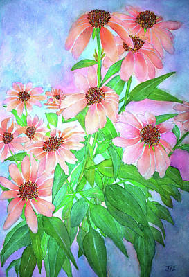 Painting - Butterfly Coneflower by Janet Immordino