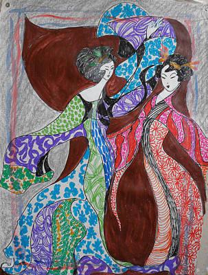 Butterfly Dance Art Print by Helene  Champaloux-Saraswati