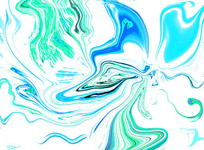 Butterfly Painting - Butterfly Dancing In The Rain by Abstract Angel Artist Stephen K