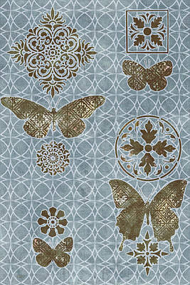 Quilted Tapestries Painting - Butterfly Deco 1 by JQ Licensing