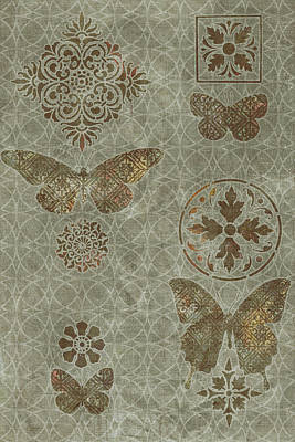 Rug Painting - Butterfly Deco 2 by JQ Licensing