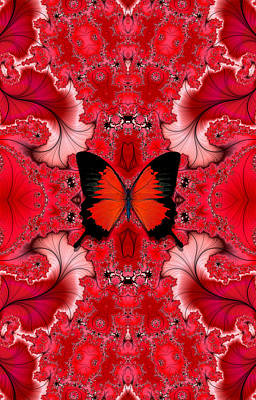 Digital Art - Butterfly Dream Phone Case by Lea Wiggins