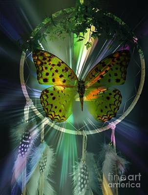Digital Art - Butterfly Dreamcatcher by Maria Urso