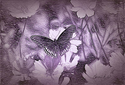 Digital Art - Butterfly Dreamland by Bonnie Willis