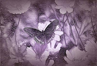 Digital Art - Butterfly Dreamland by Bonnie Willis