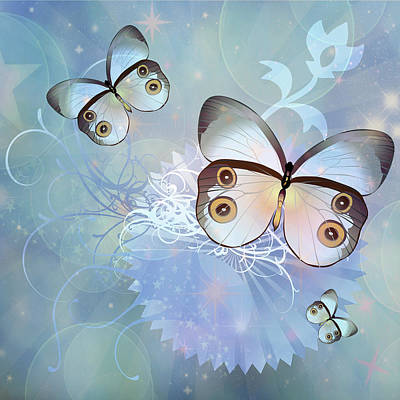 Mixed Media - Butterfly Dreams Contemporary Art by Georgiana Romanovna