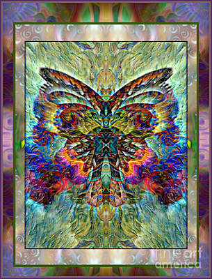 Montage Mixed Media - Butterfly Dreams by Wbk