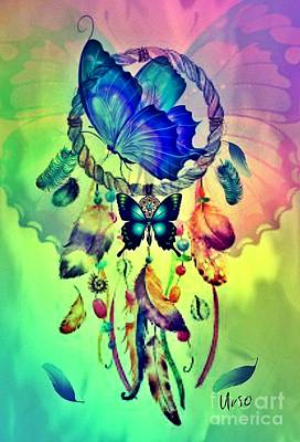Digital Art - Butterfly Dreamscape by Maria Urso