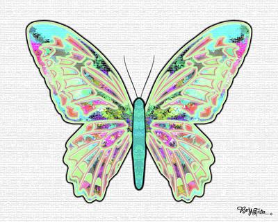 Digital Art - Butterfly Encounter #029 by Barbara Tristan