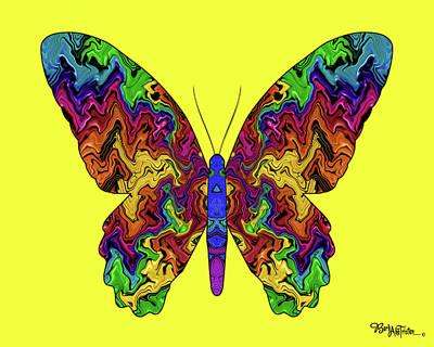 Digital Art - Butterfly Energy #026 by Barbara Tristan