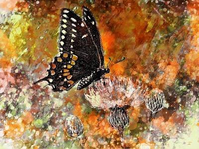 Painting - Butterfly Energy by Barbara Chichester