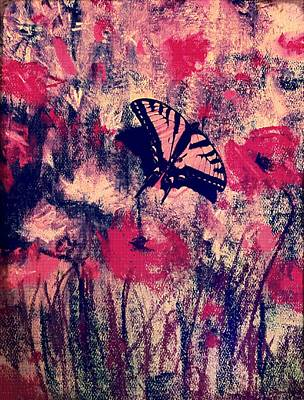 Mixed Media - Butterfly Experiment No1 by Kara Evelyn-McNeil