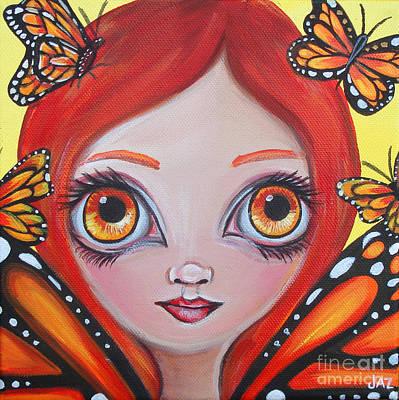 Butterfly Fairy Art Print by Jaz Higgins