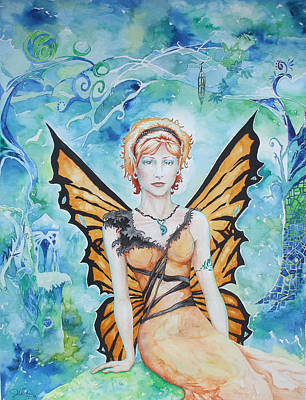 Butterfly Fairy Art Print by Jennifer Bonset