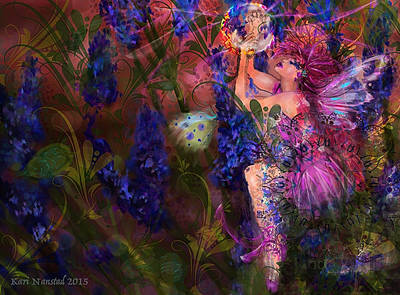 Butterfly Fairy Art Print by Kari Nanstad