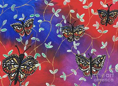 Painting - Butterfly Family Tree by Karen Jane Jones