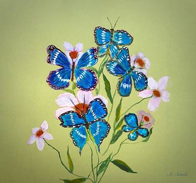 Painting - Butterfly Fantasy by Anne Sands