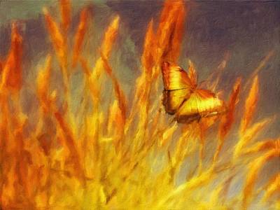 Impressionism Paintings - Butterfly Field by JS by Esoterica Art Agency