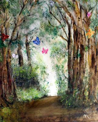 Butterfly Forest Art Print by Michela Akers