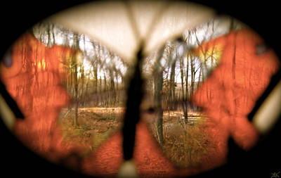 Image Of Captured Landforms Digital Art - Butterfly Forest  S by Debra     Vatalaro