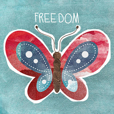 Butterfly Freedom Art Print by Linda Woods