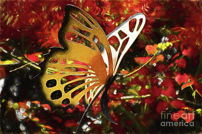 Photograph - Butterfly Garden 12717-1 by Ray Shrewsberry