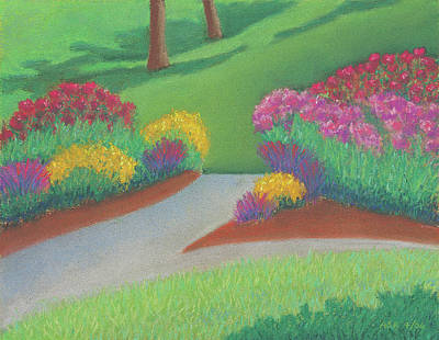 Pastel - Butterfly Garden by Anne Katzeff