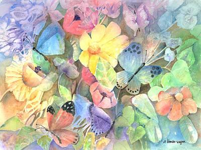 Butterfly Garden Art Print by Arline Wagner