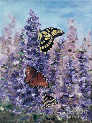 Painting - Butterfly Garden by Brenda Thour