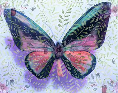 Mixed Media - Butterfly Garden Fantasy by Rosalie Scanlon