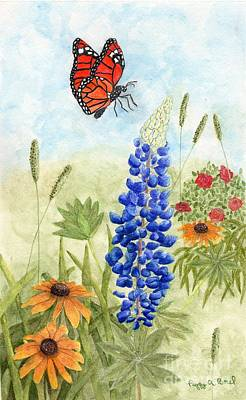 Painting - Butterfly Garden by Peggy A Borel