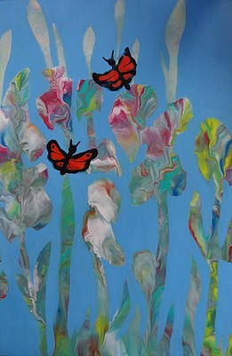 Painting - Butterfly Glads by Kathleen Luther