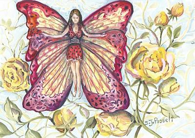 Butterfly Grace Fairy Art Print