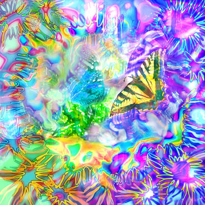 Digital Art - Butterfly Graffiti by Adria Trail