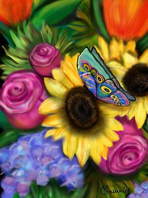 Painting - Butterfly Happiness by Christine Fournier