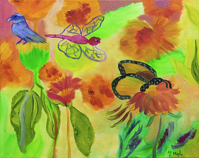 Painting - Butterfly Haven by Meryl Goudey
