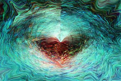 Digital Art - Butterfly Heart by Linda Sannuti
