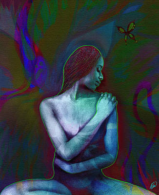 Digital Art - Butterfly Hearts II by AC Williams