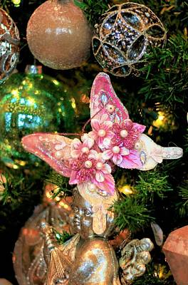 Photograph - Butterfly Holiday Ornament  by Carol Montoya
