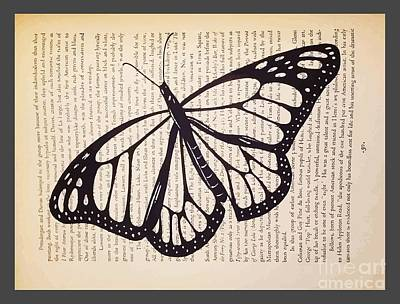 Butterfly In A Book Art Print by Kylee S