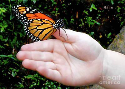 Photograph - Butterfly In Childs Hand by Felipe Adan Lerma