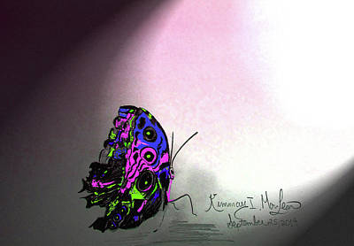 Drawing - Butterfly In Color by Kimmary I MacLean