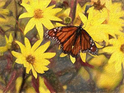Painting - Butterfly In Summer by Dan Sproul